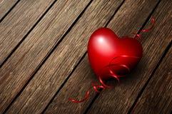 Heart On A Wood Board Stock Photos