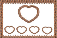 Heart wood carving Royalty Free Stock Image
