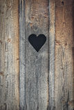 Heart of wood. Heart cut out the wood Stock Photo