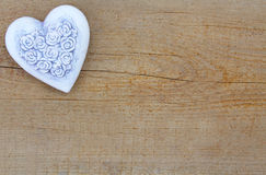 Heart on wood Royalty Free Stock Photos