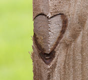 Heart on Wood Fence Royalty Free Stock Photography