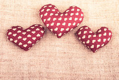 Heart on wood Royalty Free Stock Photography