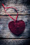 Heart on the wood Royalty Free Stock Photography