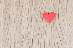 Heart on wood Royalty Free Stock Image