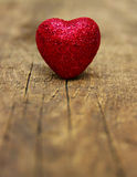 Heart on wood royalty free stock photos