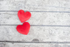 Heart on the wood Royalty Free Stock Images