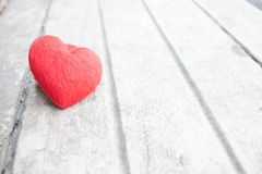 Heart on the wood. Red heart on rustic wood Royalty Free Stock Images