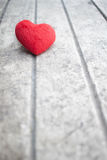 Heart on the wood. Red heart on rustic wood Stock Images