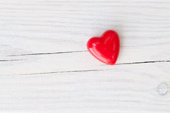 Heart on wood royalty free stock photo