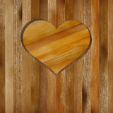 Heart in wood shape for your design. + EPS8. Heart in wood shape for your design with copyspace. + EPS8 vector file Stock Illustration