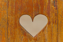 Heart on the wood. Royalty Free Stock Photography