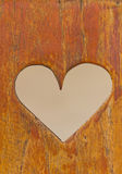 Heart on the wood. Royalty Free Stock Image