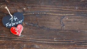 Heart on wood Stock Photos