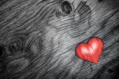 Heart wood on wooden floor - 3D Render Stock Photography