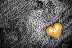 Heart wood on wooden floor - 3D Render Royalty Free Stock Image