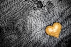 Heart wood on wooden floor - 3D Render Royalty Free Stock Image