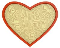 Heart - wooden background. Wooden Heart background, object isolated over white Royalty Free Stock Images