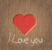 Heart on a wooden background. Heart on a brown wooden background Stock Photos