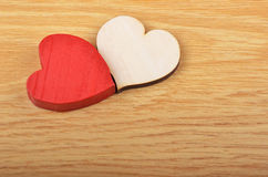 Heart on wooden background Royalty Free Stock Photo
