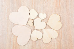 Heart on wooden background Stock Image