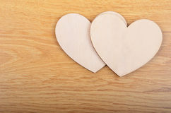 Heart on wooden background Royalty Free Stock Images
