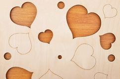 Heart on wooden background Royalty Free Stock Photos