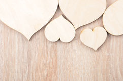 Heart on wooden background Stock Photo