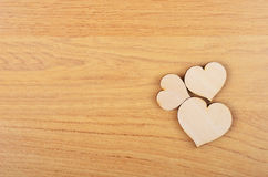 Heart on wooden background Royalty Free Stock Photography