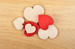 Heart on wooden background Royalty Free Stock Image