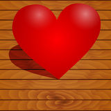 Heart on a wooden background Stock Photo