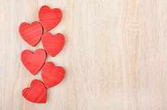 Heart on wooden background Stock Photography
