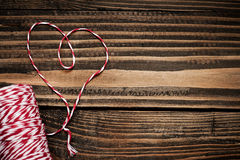 Heart on a wooden background Royalty Free Stock Images