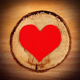 Heart on the Wooden Background Royalty Free Stock Photography