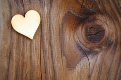 Heart on  wooden board Royalty Free Stock Image
