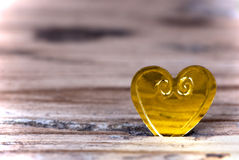 Heart in Wooden Plank Royalty Free Stock Photography