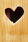 Heart in a wooden plank Stock Photography