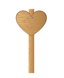 Heart wooden sign Stock Photography