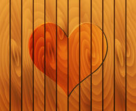 Heart on wooden texture Royalty Free Stock Photo