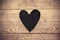 Heart in Wooden Wall Stock Photography