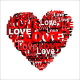 Heart from word LOVE Royalty Free Stock Photo