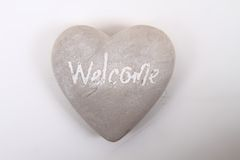 Heart with word welcome Stock Images