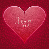Heart with words I Love You Stock Photos