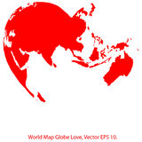 Heart World Map Globe Vector Illustrator, EPS 10. Stock Photography