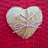 Heart wrapped in Paper Royalty Free Stock Photos