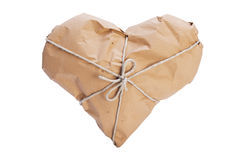 Heart wrapped for shipping Royalty Free Stock Photography