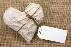 Heart in Wrapping Paper Royalty Free Stock Photos