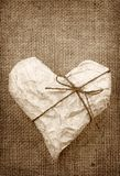 Heart in Wrapping Paper Royalty Free Stock Image