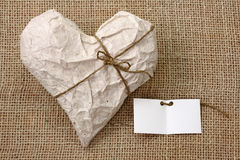 Heart in Wrapping Paper Royalty Free Stock Images