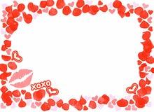 Heart xoxo frame Royalty Free Stock Photography