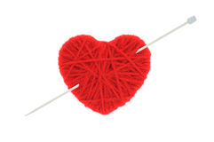 Heart of yarn Stock Photos